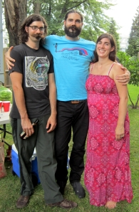 Jesse (center), Benjamin and Sarah.